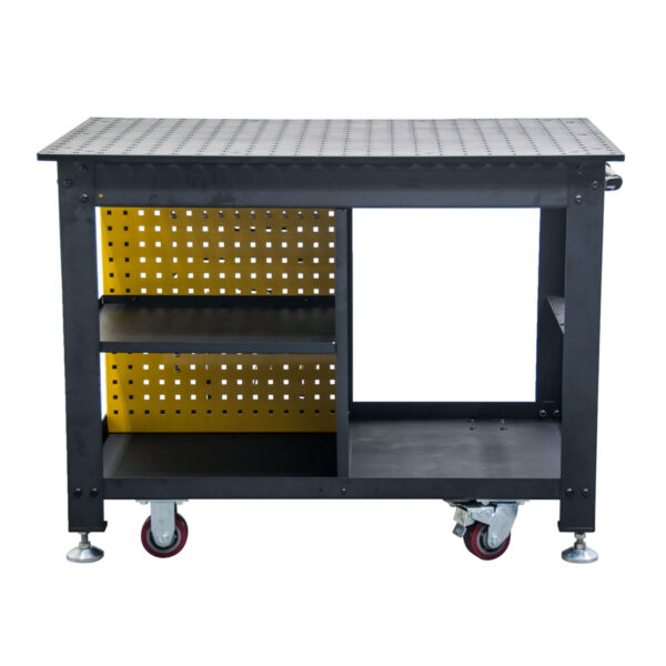 Back View of Rhino Cart Mobile fixturing welding table