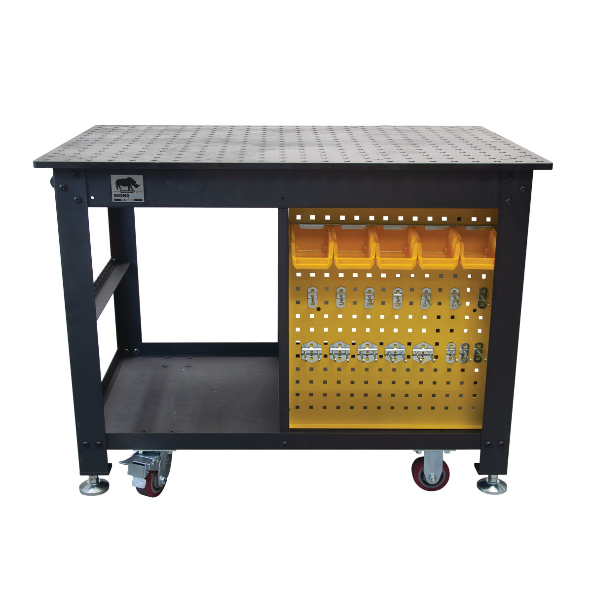 Front View of Rhino Cart Mobile fixturing welding table