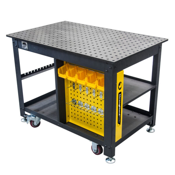 Side View of Rhino Cart Mobile fixturing welding table