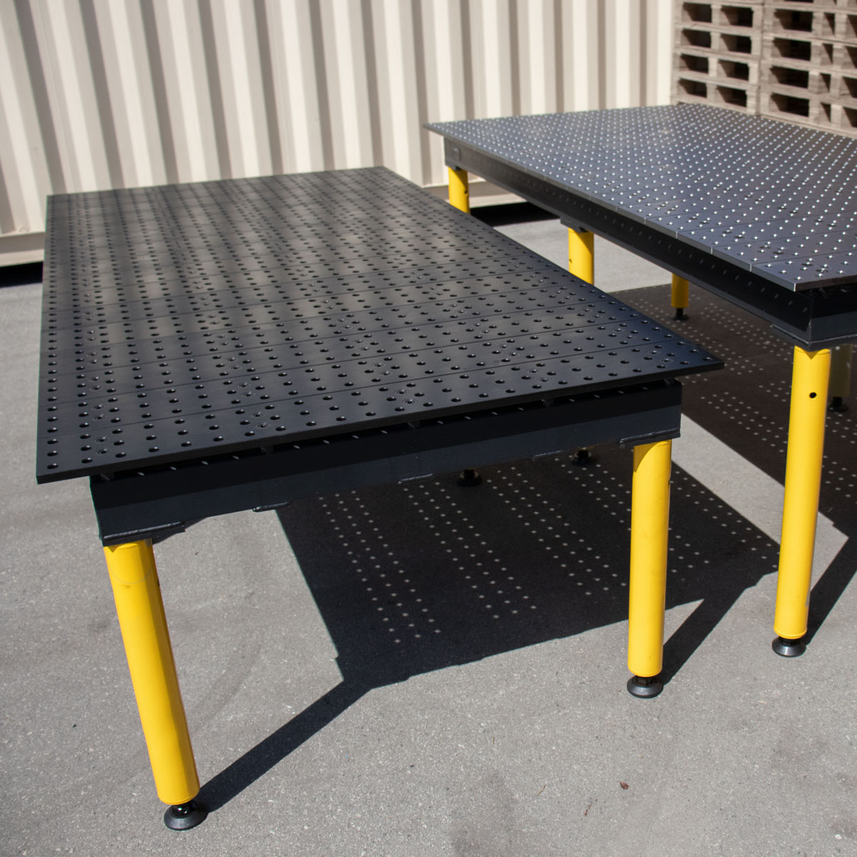 nitrided and standard max tables side by side