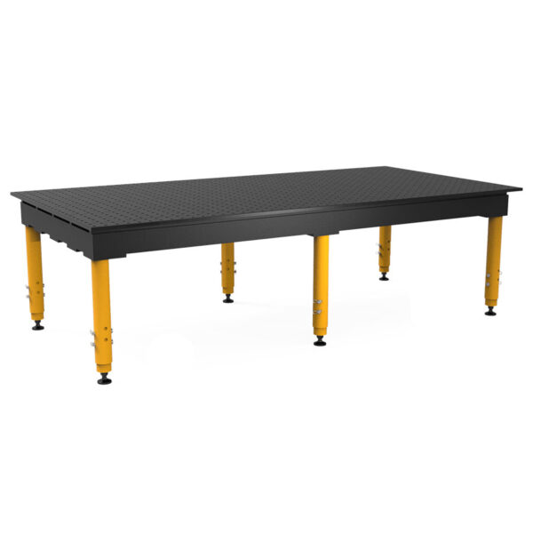 Nitrided 8 by 4 ft max table with adjustable legs