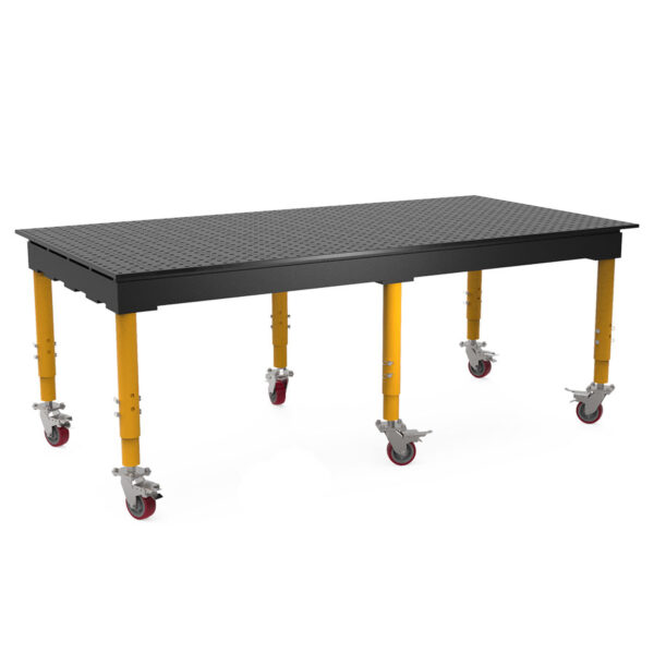 Nitrided 8 by 4 ft max table with casters