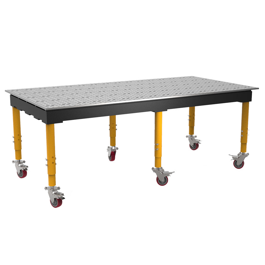 8 by 4 ft max table with casters