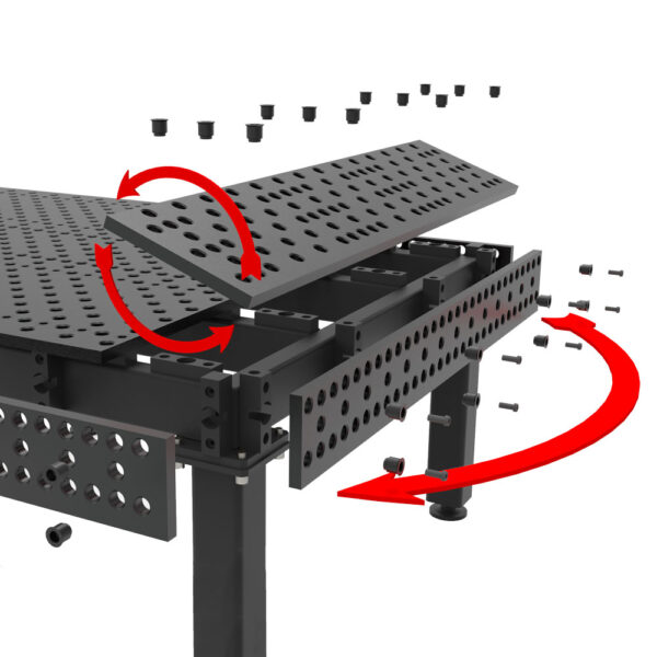 Patented Self-locating Plate System for Top and Side Plates