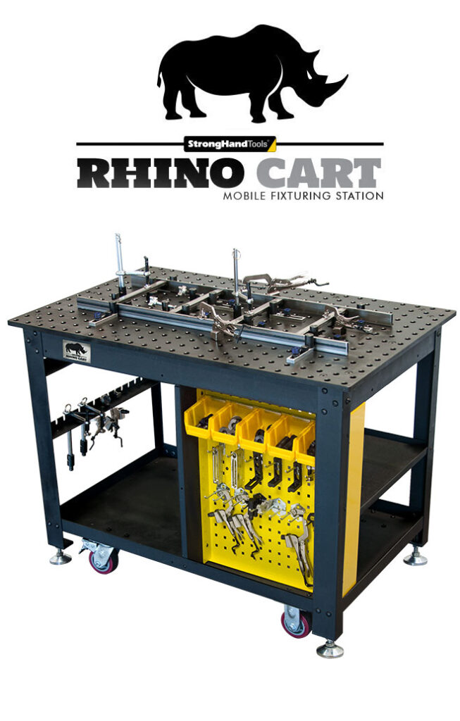 Rhino Cart with square fixture and fixturing tools