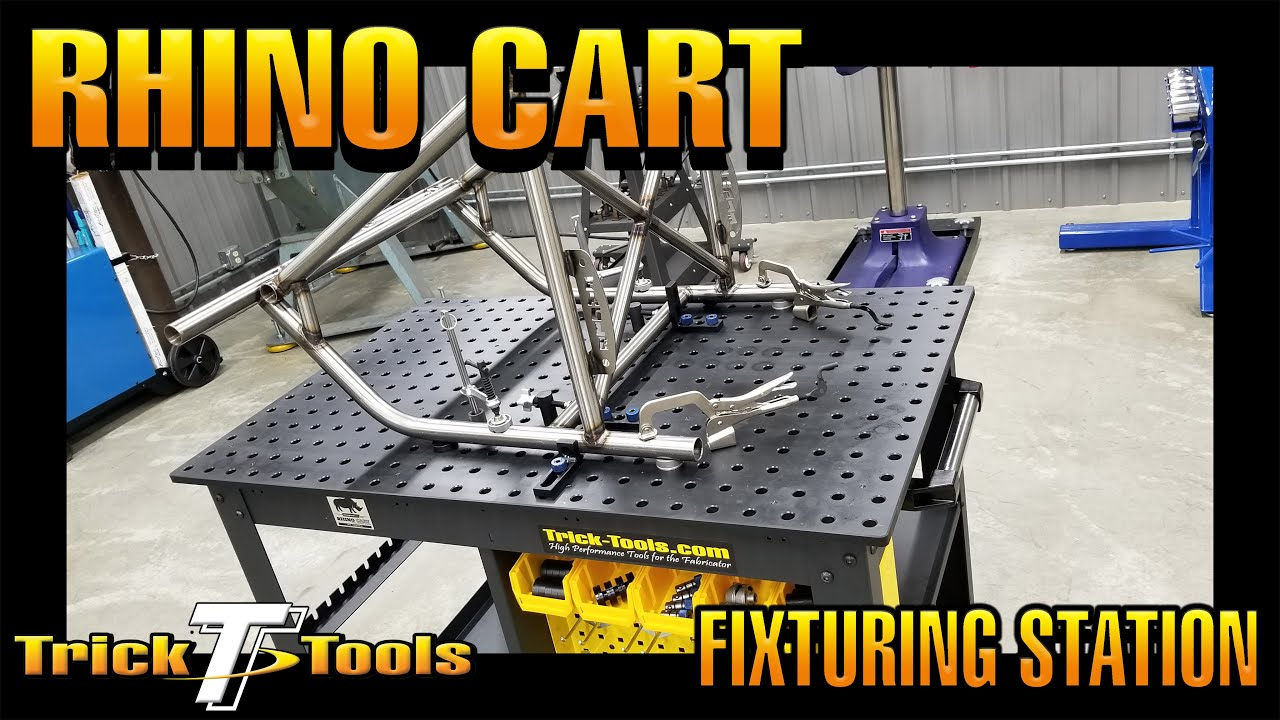 Rhino Cart Fixturing Table video thumbnail from Trick-Tools